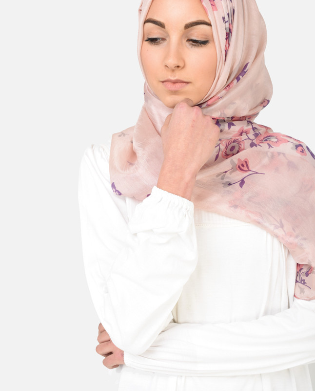 Floral Fancy Silk Hijab