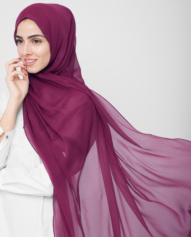 Rhododendron PolyChiffon Hijab