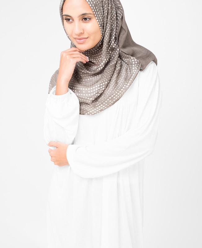Ash White Hijab