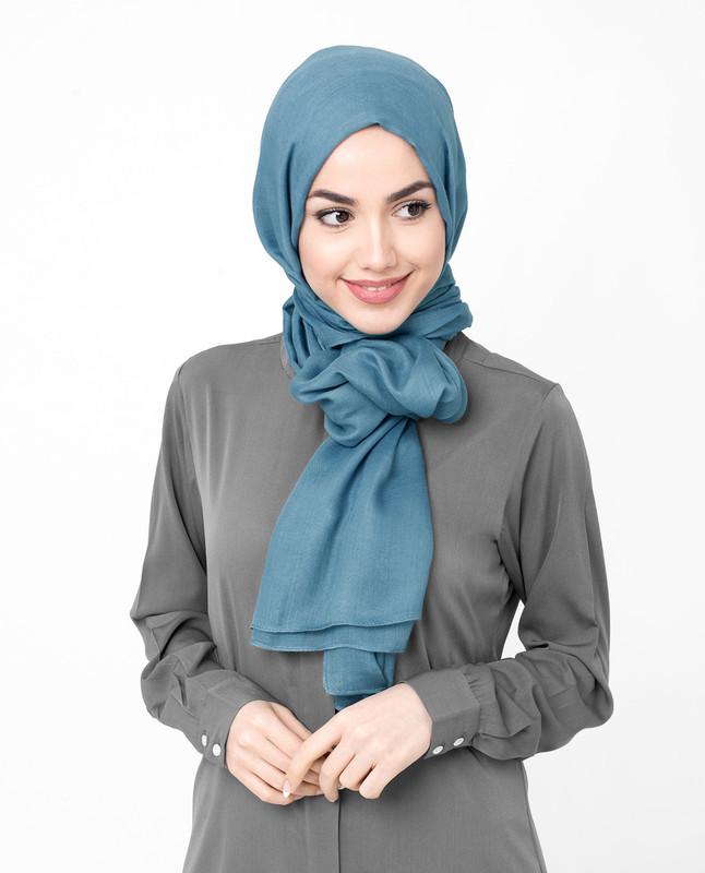 Blue Steel Viscose Hijab