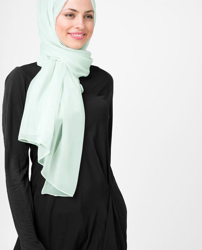 Glacier Grey PolyChiffon Hijab