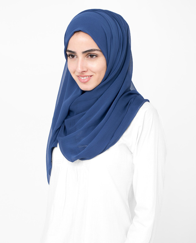 Twilight Blue PolyChiffon Hijab