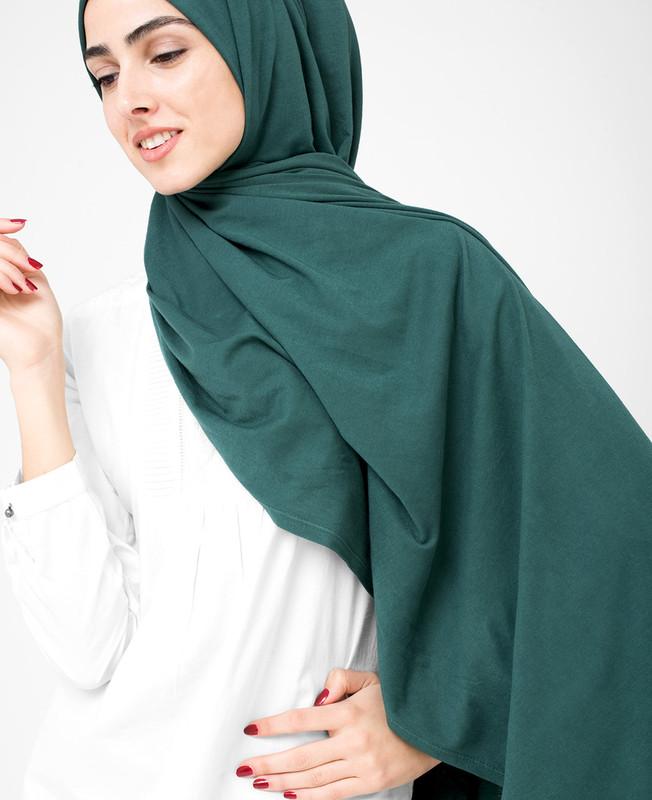 Ponderosa Pine Green Cotton Jersey Hijab