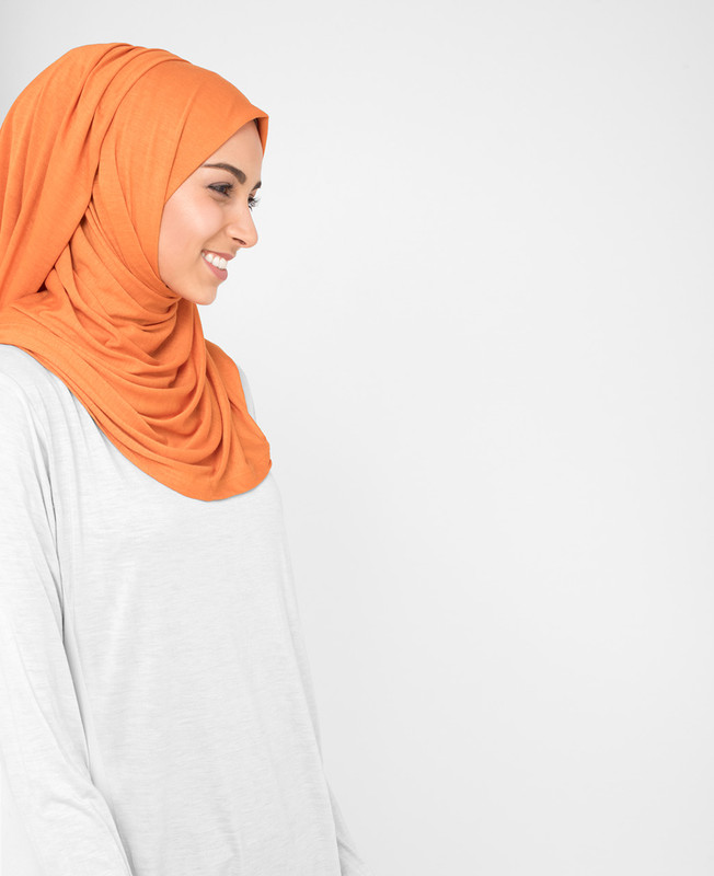 Orange Ochre Viscose Jersey Hijab