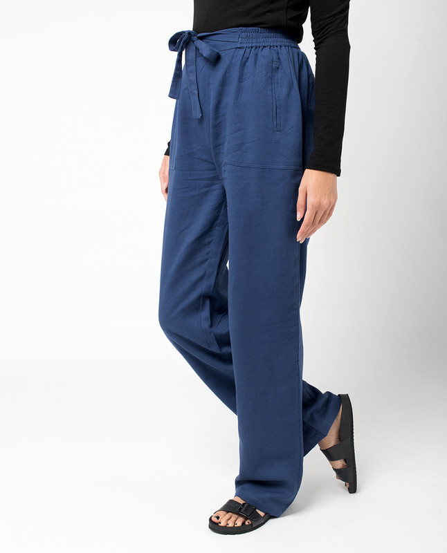 Blue Loose Trousers