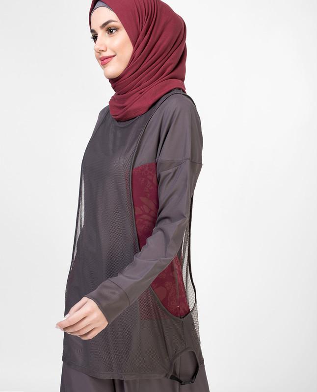 Rose Lace Mesh Jilbab