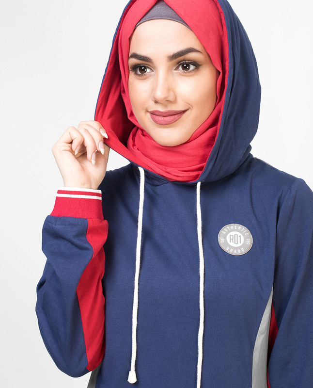 Tri Color Casual Jilbab