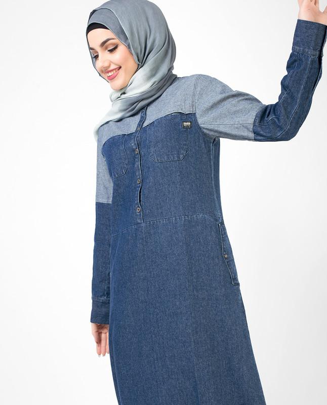 Reverse Denim Blue Jilbab
