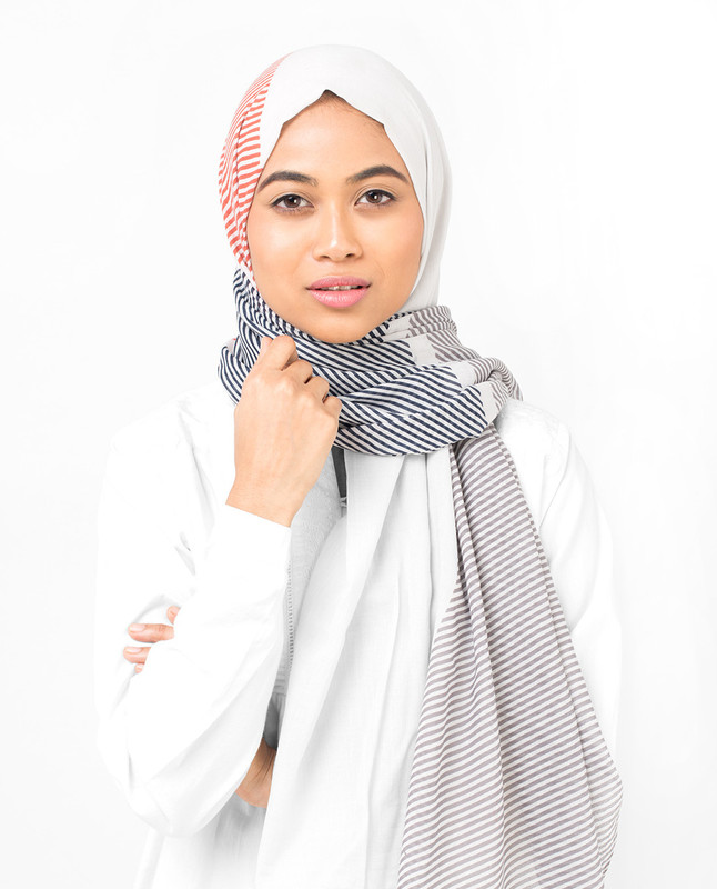 Cotton Voile Striper Hijab