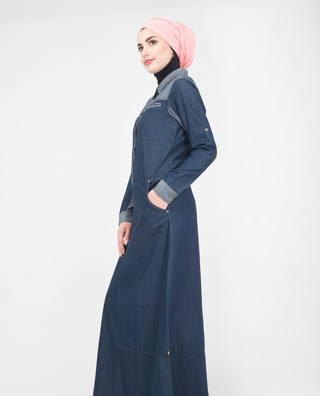 blue denim summer jilbab abaya