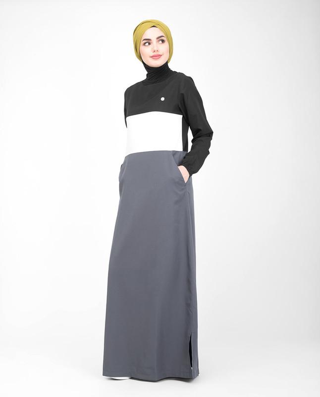Collarless jilbab abaya