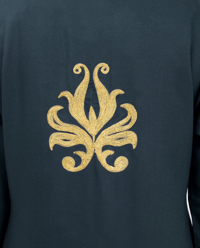 Navy & Gold Embroidery Outerwear