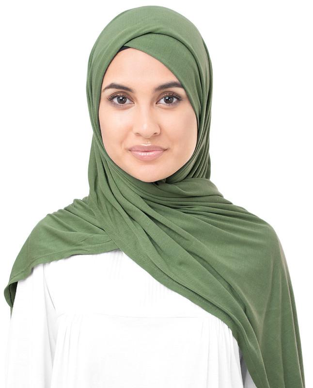 knit green hijab scarf