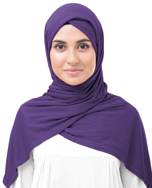 Purple Hijab scarf