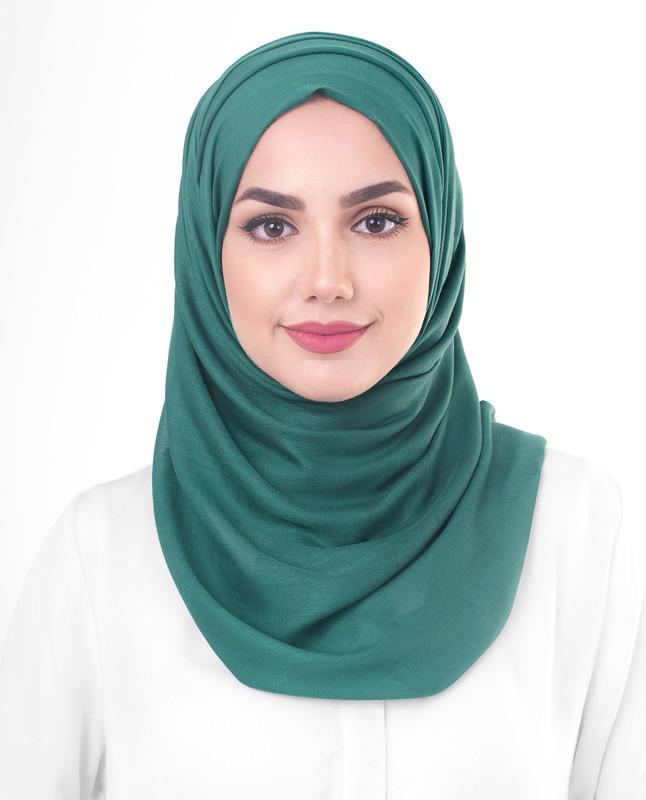 Green hijab scarf