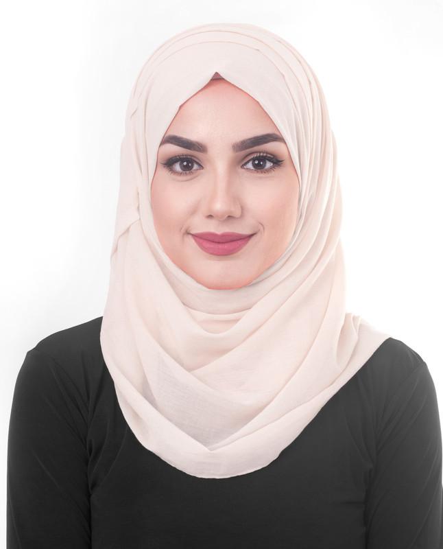 Pink hijab scarf