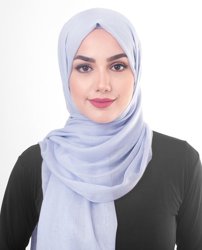 Purple woven hijab scarf