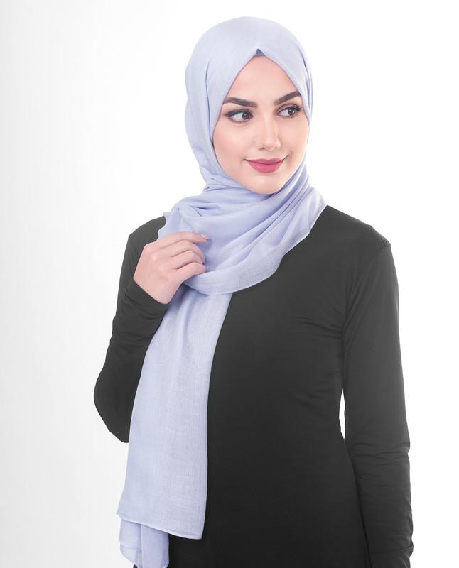 Purple viscose hijab scarf