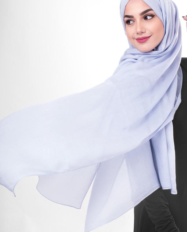 Purple stylist hijab scarf
