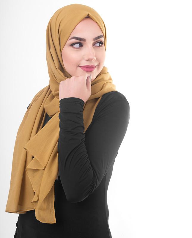 Rose gold hijab scarf