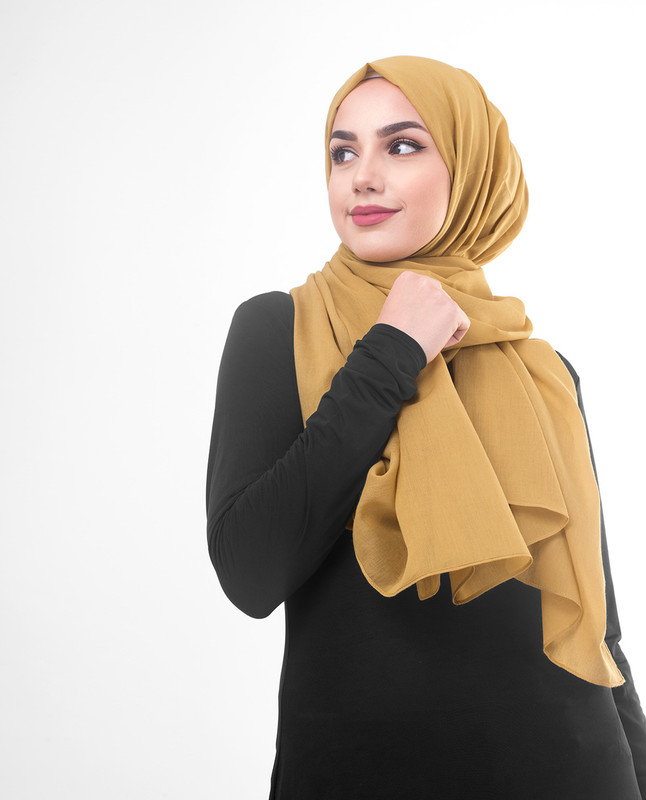 Golden hijab scarf