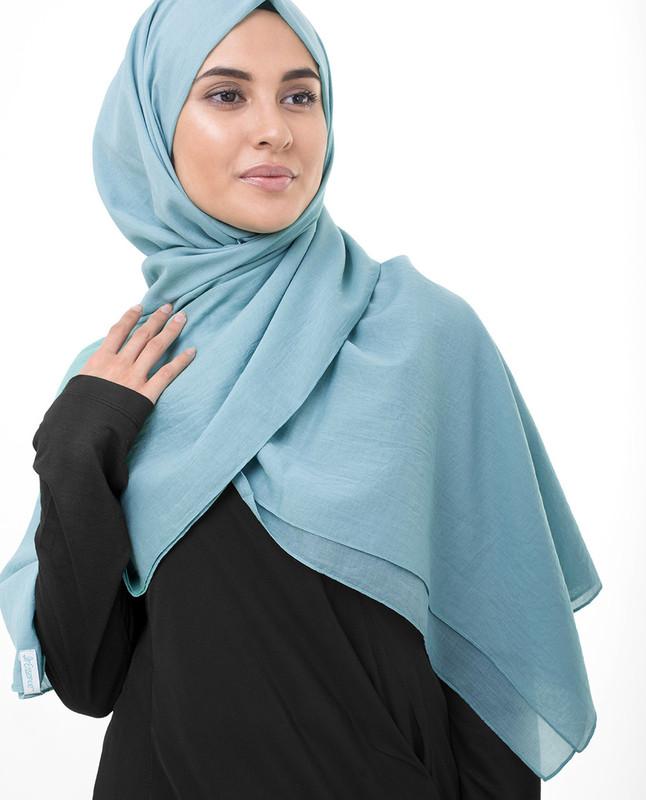 Light blue hijab style scarf