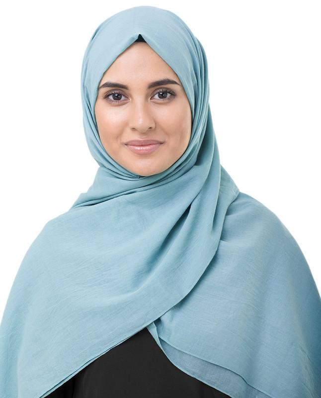 Aqua hijab scarf