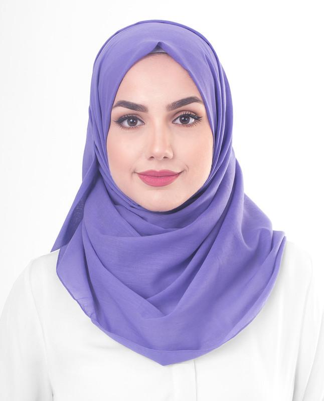 Purple cotton hijab scarf