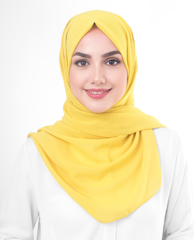 Sulphur Poly Georgette Scarf