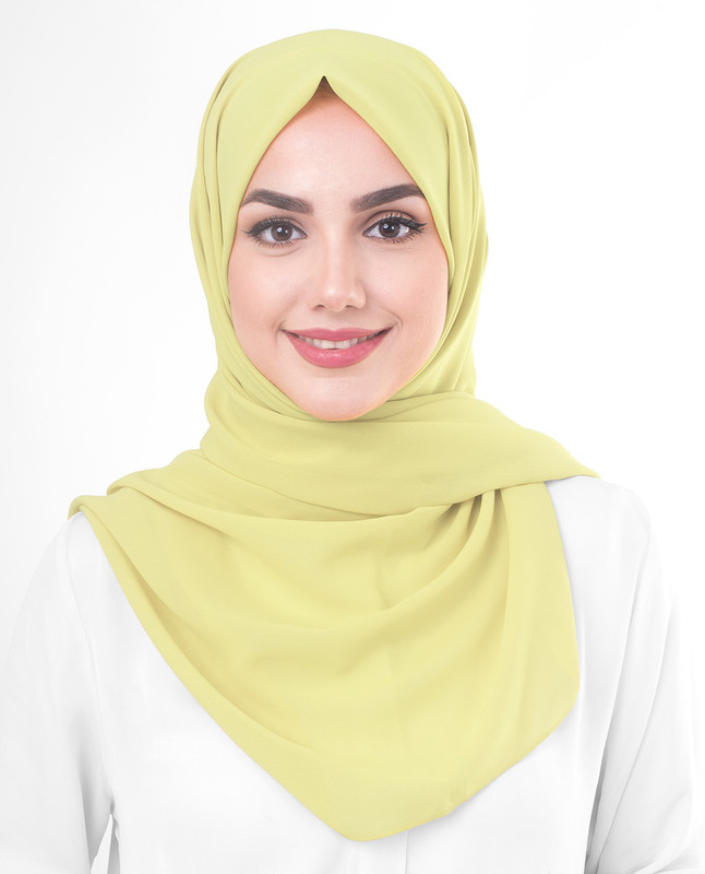 Lemon Grass Poly Georgette Scarf