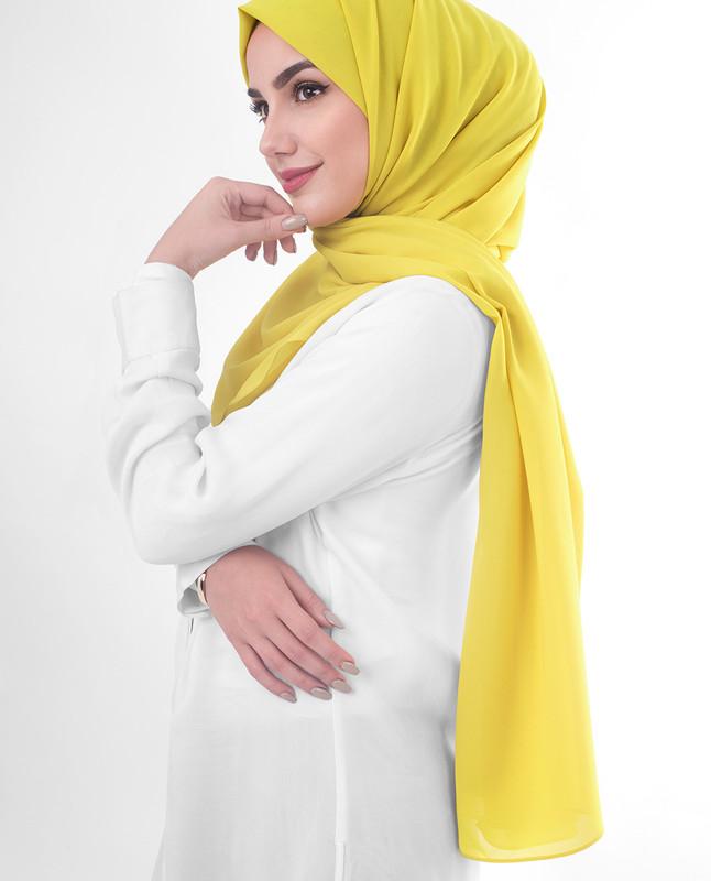 Mustard yellow hijab scarf
