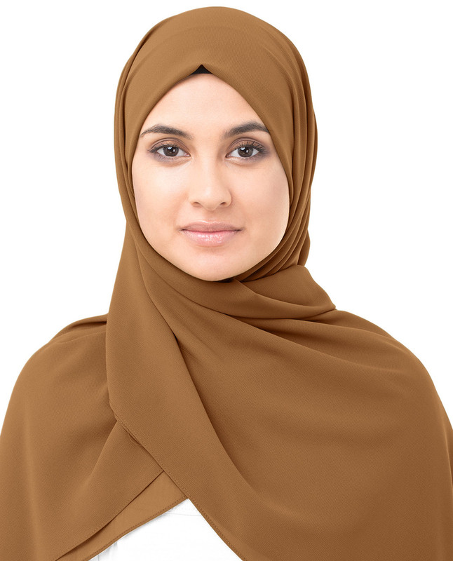 Casual brown hijab scarf