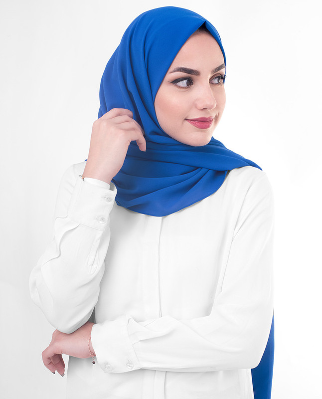 Blue hijab fashion scarf
