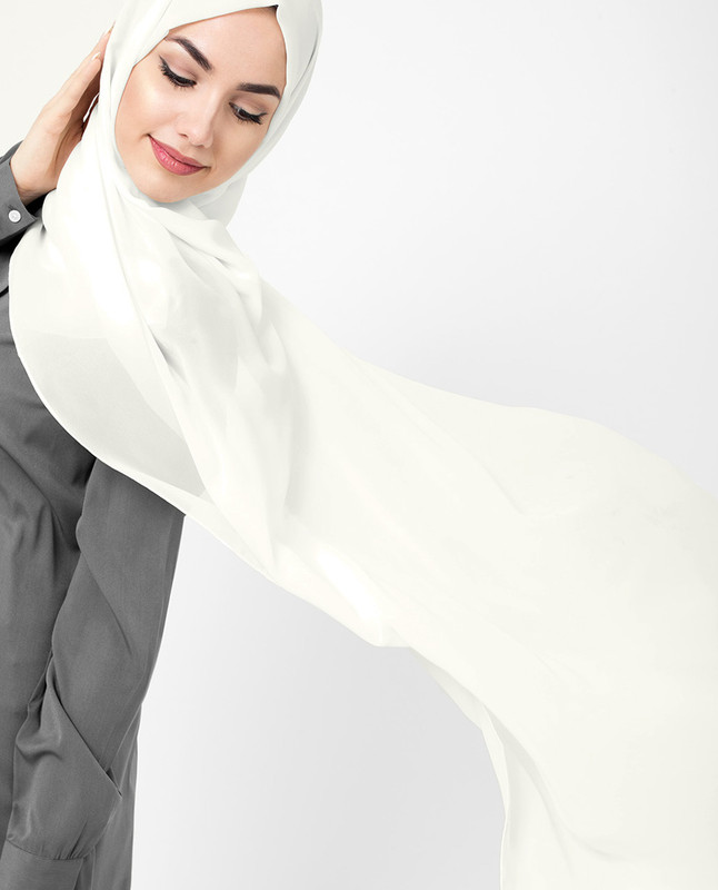 Light blue hijab scarf