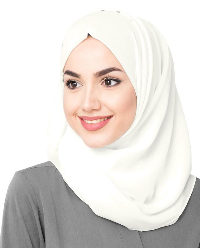 Woven blue hijab scarf