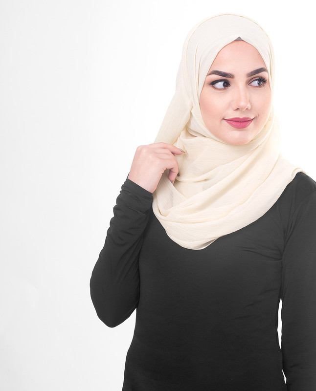 Light brown hijab scarf