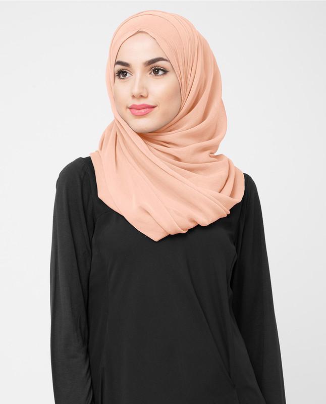 Pink stylist hijab scarf