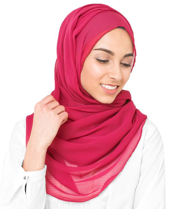 Pink hijab fashion scarf