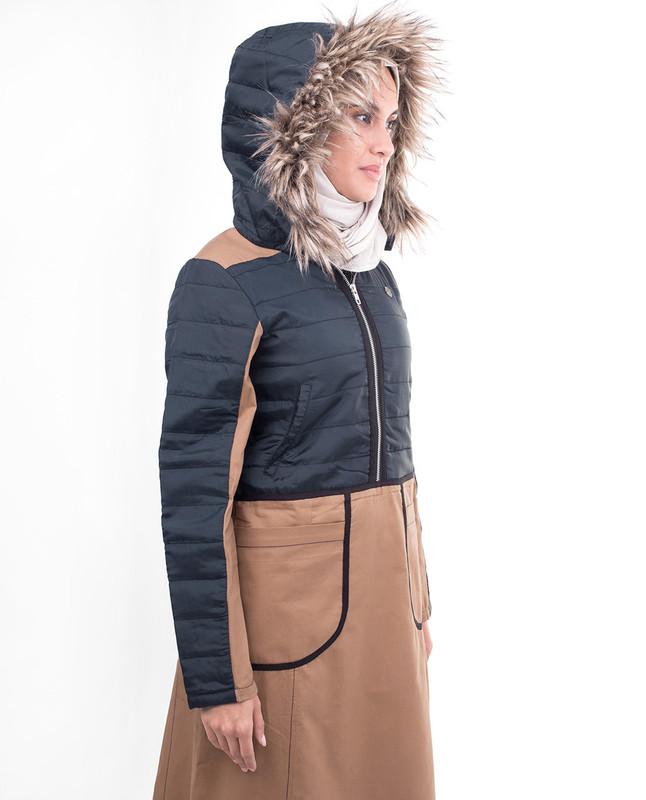 Winter warm hood abaya jilbab