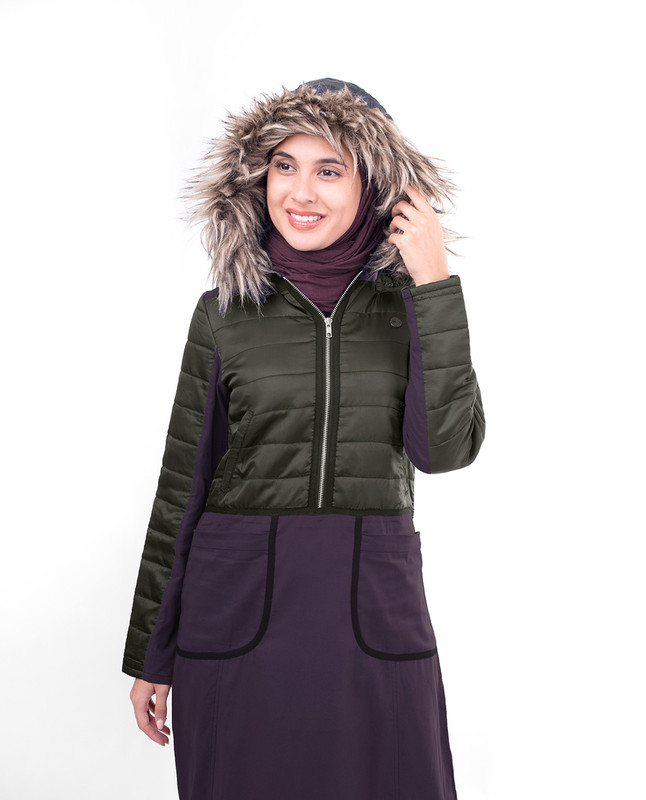 Winter comfort purple abaya jilbab