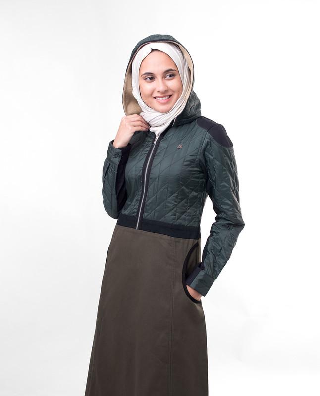 Olive winter jilbab abaya