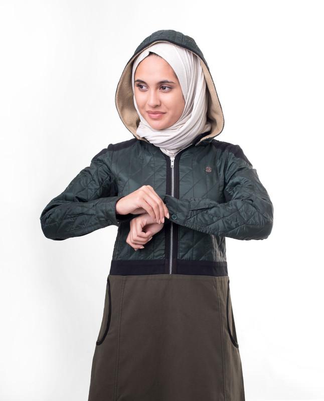 Cold weather abaya jilbab