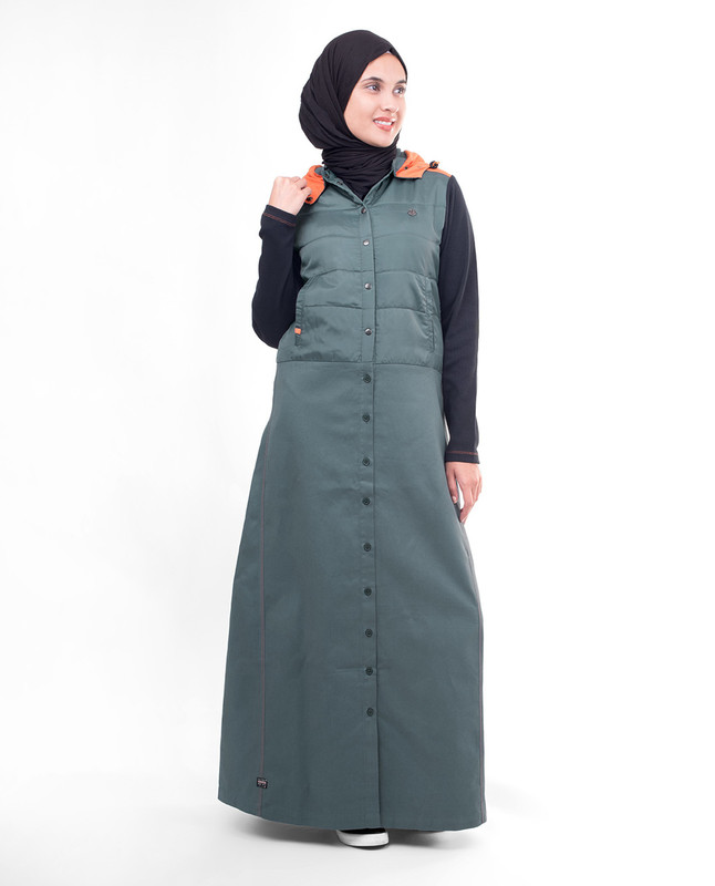 Winter hooded abaya jilbab