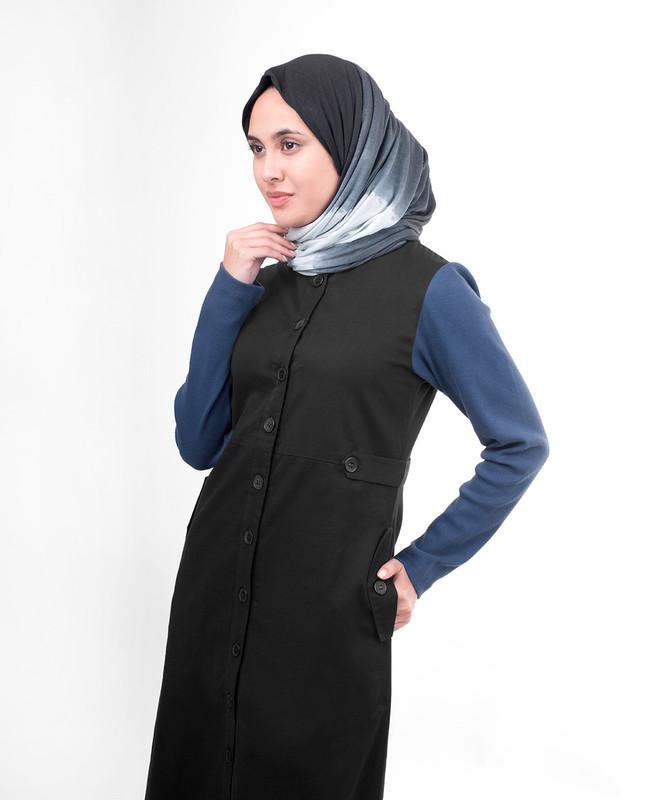 Sports black abaya jilbab