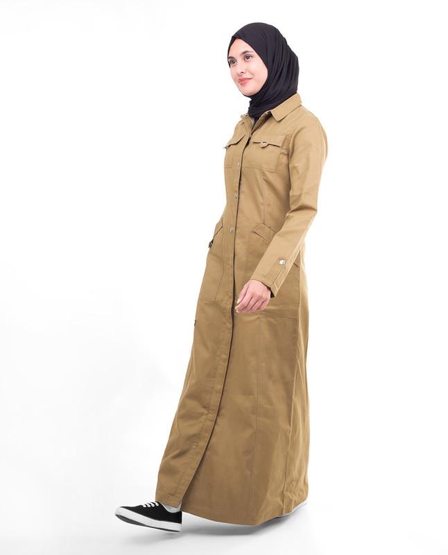 Full front open winter abaya jilbab