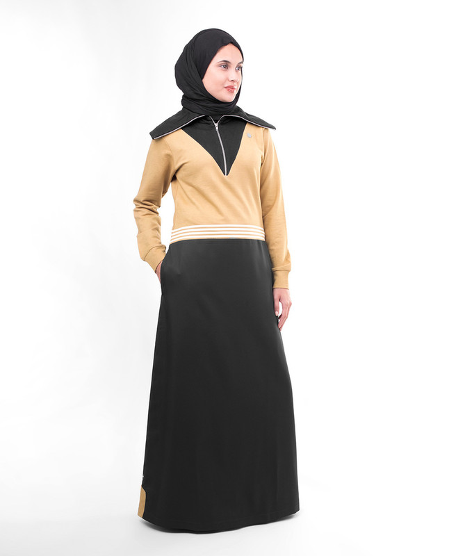 black and brown abaya jilbab