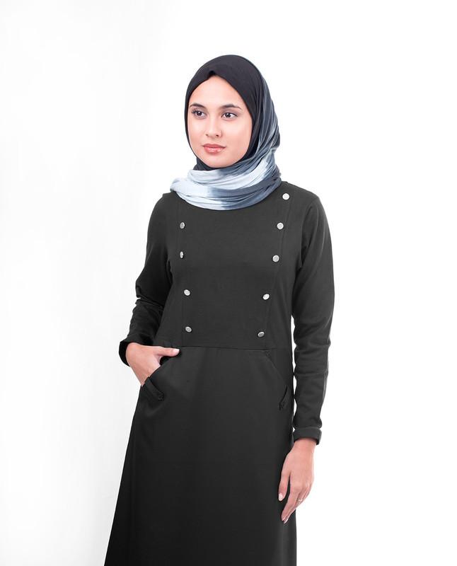 Black woven abaya jilbab