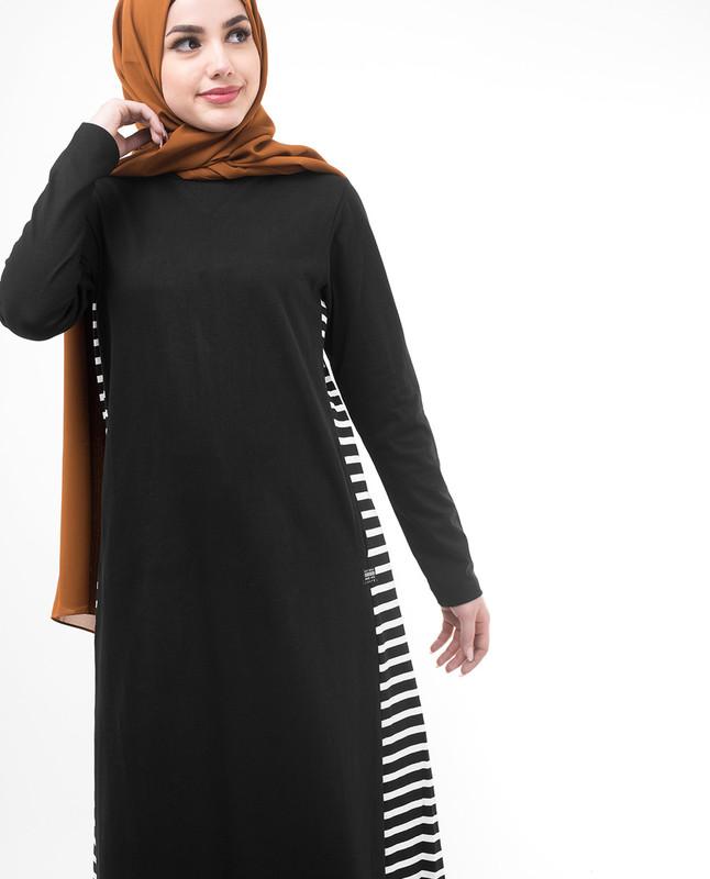 Black jersey jilbab abaya