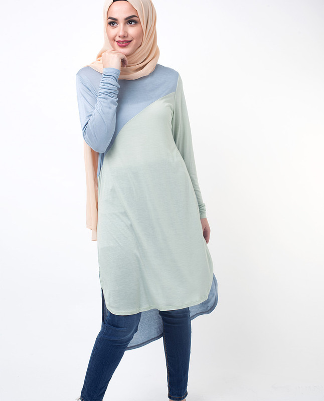 Fashionable Blue Tunic Top