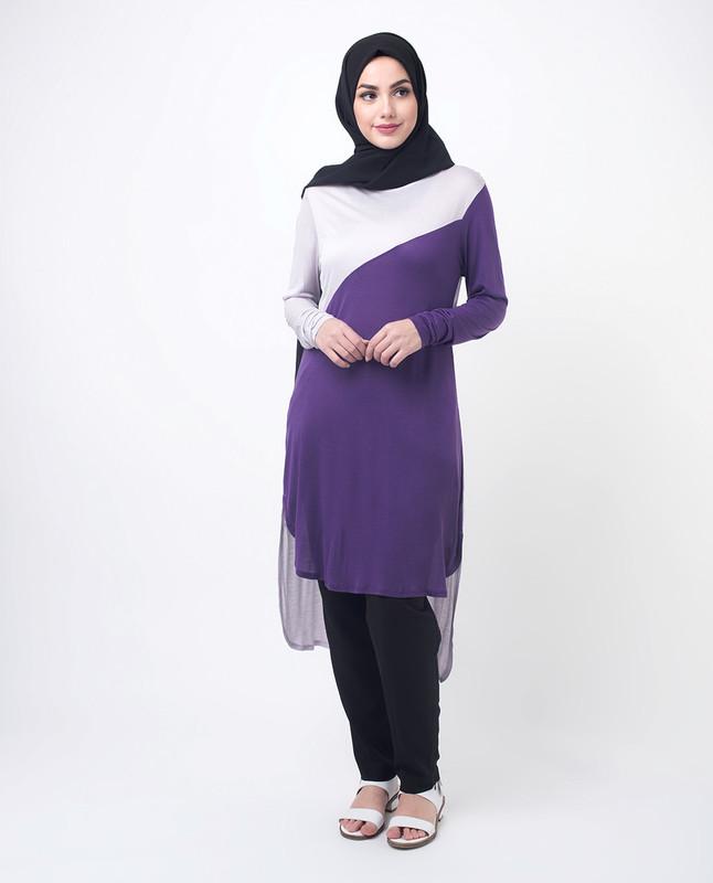 Purple Modest Top Tunic